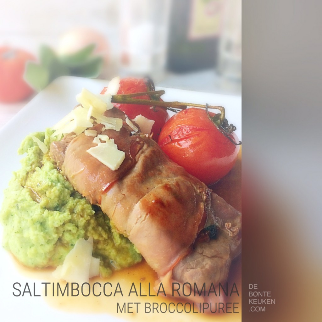 saltimbocca met broccolipuree