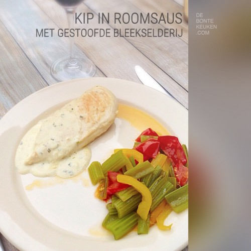 Kipfilet in Roomsaus