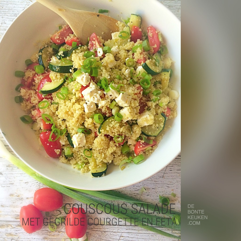 couscous salade met courgette
